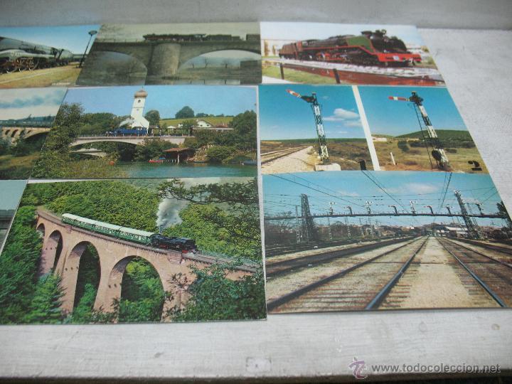 Postales: Lote de 35 postales ferroviarias de locomotoras vagones tranvías metros vías señales - Foto 5 - 45274457