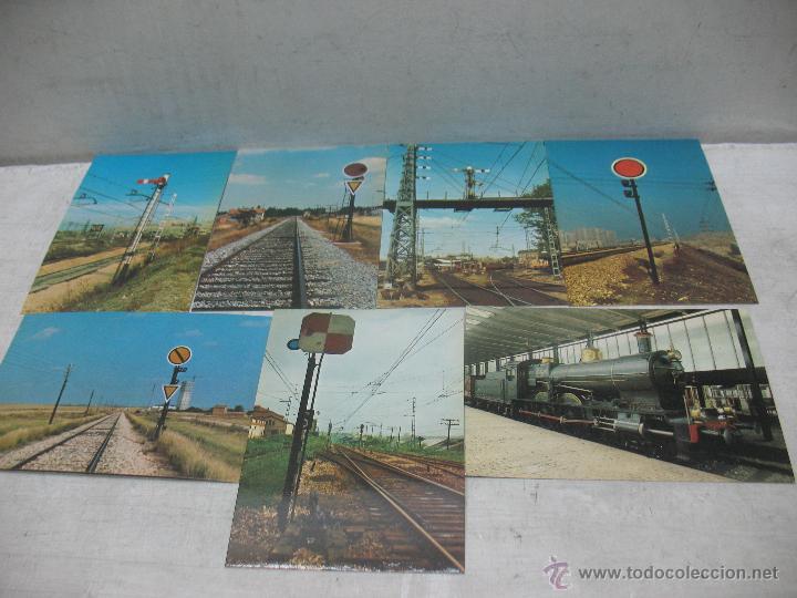 Postales: Lote de 35 postales ferroviarias de locomotoras vagones tranvías metros vías señales - Foto 6 - 45274457
