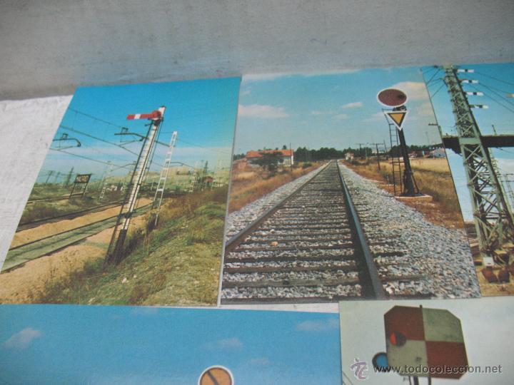Postales: Lote de 35 postales ferroviarias de locomotoras vagones tranvías metros vías señales - Foto 7 - 45274457