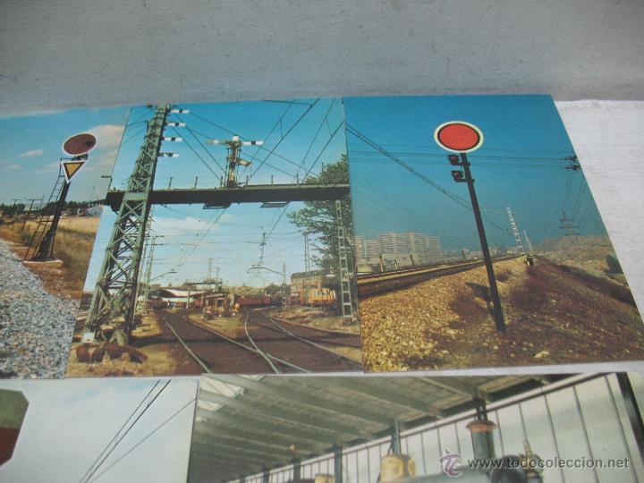 Postales: Lote de 35 postales ferroviarias de locomotoras vagones tranvías metros vías señales - Foto 8 - 45274457