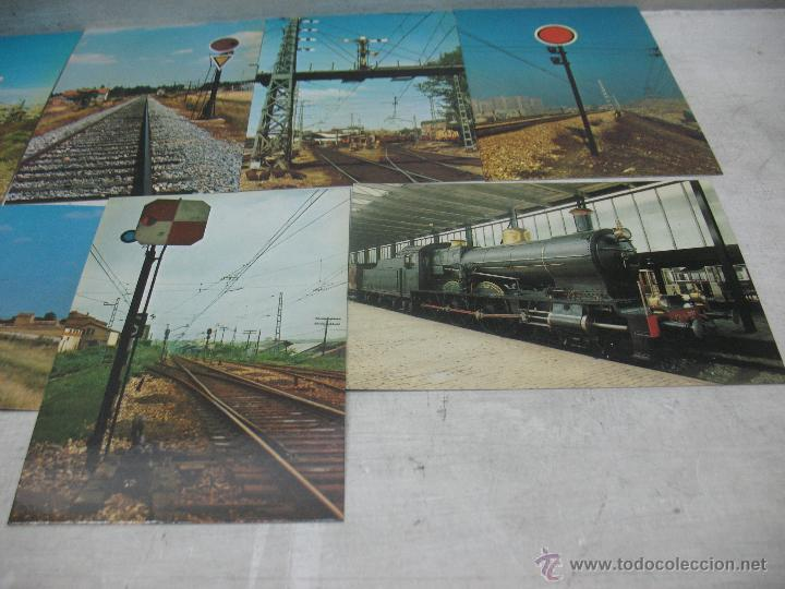 Postales: Lote de 35 postales ferroviarias de locomotoras vagones tranvías metros vías señales - Foto 9 - 45274457