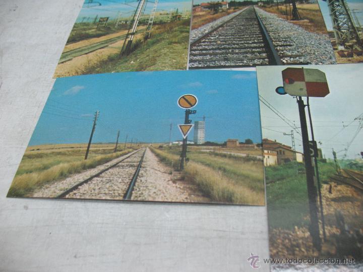 Postales: Lote de 35 postales ferroviarias de locomotoras vagones tranvías metros vías señales - Foto 10 - 45274457