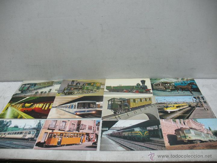 Postales: Lote de 35 postales ferroviarias de locomotoras vagones tranvías metros vías señales - Foto 11 - 45274457