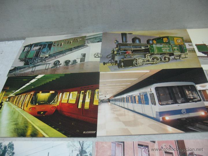 Postales: Lote de 35 postales ferroviarias de locomotoras vagones tranvías metros vías señales - Foto 12 - 45274457