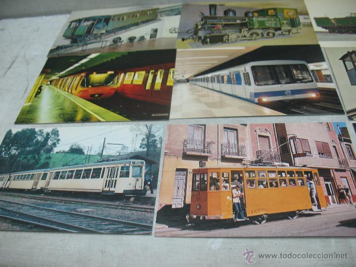 Postales: Lote de 35 postales ferroviarias de locomotoras vagones tranvías metros vías señales - Foto 14 - 45274457