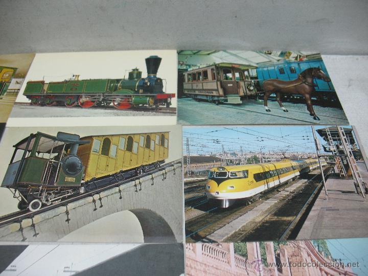 Postales: Lote de 35 postales ferroviarias de locomotoras vagones tranvías metros vías señales - Foto 15 - 45274457