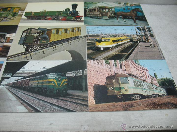 Postales: Lote de 35 postales ferroviarias de locomotoras vagones tranvías metros vías señales - Foto 16 - 45274457