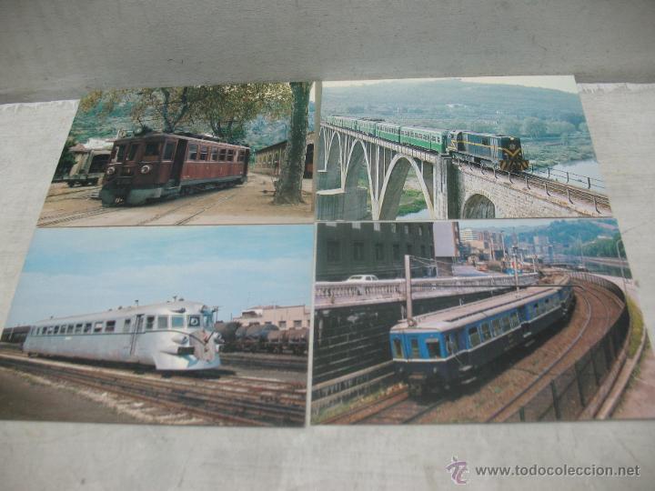 Postales: Lote de 35 postales ferroviarias de locomotoras vagones tranvías metros vías señales - Foto 17 - 45274457