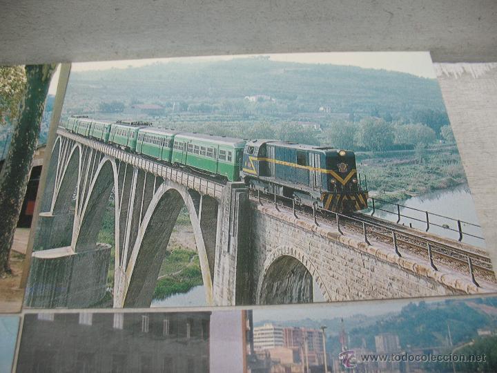 Postales: Lote de 35 postales ferroviarias de locomotoras vagones tranvías metros vías señales - Foto 19 - 45274457