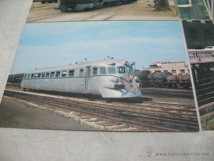 Postales: Lote de 35 postales ferroviarias de locomotoras vagones tranvías metros vías señales - Foto 21 - 45274457