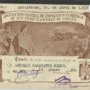 Postales: ASOCIACION GENERAL DE EMPLEADOS Y OBREROS DE LOS FERROCARRILES DE ESPAÑA - FERROCARRIL -SOCIO(24462). Lote 45821105