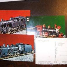 Postales - ÁLBUM - COLECCIÓN COMPLETA 24 POSTALES LOCOMOTORAS TREN. - 46619543