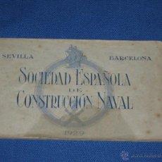 Postales: SEVILLA - BARCELONA - LIBRO 8 POSTALES TRENES DE LA SOCIEDAD ESPAÑOLA DE CONSTRUCCION NAVAL - 1929. Lote 46729506