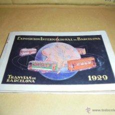 Postales: TRANVIAS - TACO CON 12 POSTALES COMPLETO TRANVIAS DE BARCELONA EXPOSICION INTERNACIONAL DE BARCELONA. Lote 46767800