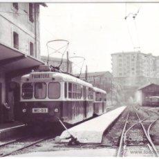 Postales: SOCIEDAD EXPLOTADORA DE FERROCARRILES Y TRANVÍAS: EL TOPO. TREN PARA LA FRONTERA EN RENTERÍA (1972). Lote 47881194