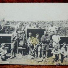 Postales: FOTO POSTAL DE TRABAJADORES RUSOS DEL FERROCARRIL, AÑO 1910 APROX. NO CIRCULADA.. Lote 47934013