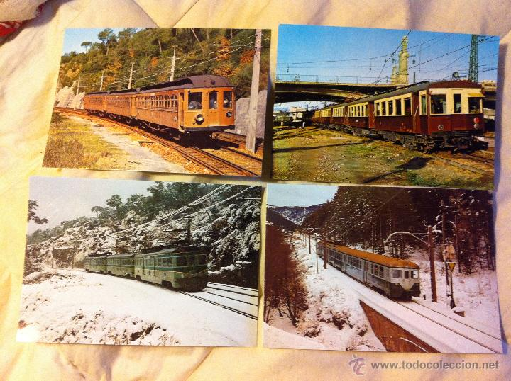 POSTALES DE TRENES EN LA MOLINA, VILANOVA Y LES PLANES (Postales - Postales Temáticas - Trenes y Tranvías)