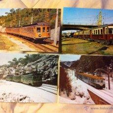Postales: POSTALES DE TRENES EN LA MOLINA, VILANOVA Y LES PLANES. Lote 48114410
