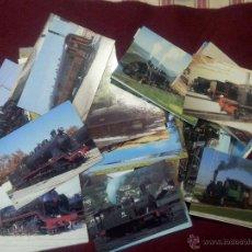 Postales: 87 POSTALES DE LOCOMOTORAS DE ESPAÑA . Lote 48667750