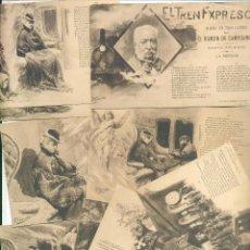 Postales - coleccion de 10 postales completa el tren expreso poemas D. RAMON DE CAMPOAMOR - 49358570
