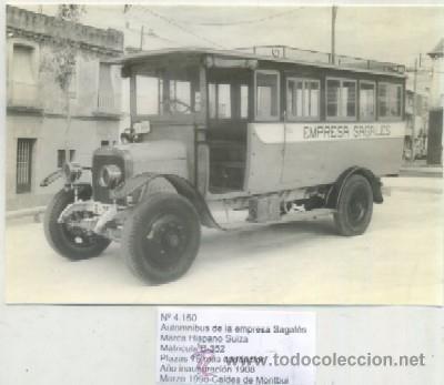 Postales: POSTAL DE TRENES Nº 4150. AUTOMNIBUS EMPRESA SAGALES. MARCA HISPANO-SUIZA. 1908 MONTBUI P-TREN-151 - Foto 1 - 49522421
