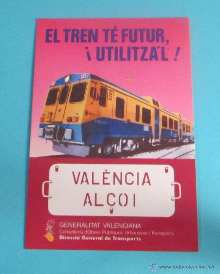 POSTAL TREN VALÈNCIA - ALCOI (Postales - Postales Temáticas - Trenes y Tranvías)