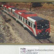 Postais: POSTAL DE TRENES Nº 228. AUTOMOTOR DIESEL 596-011-7. LINEA ZARAGOZA-TERUEL P-TREN-708. Lote 50318243