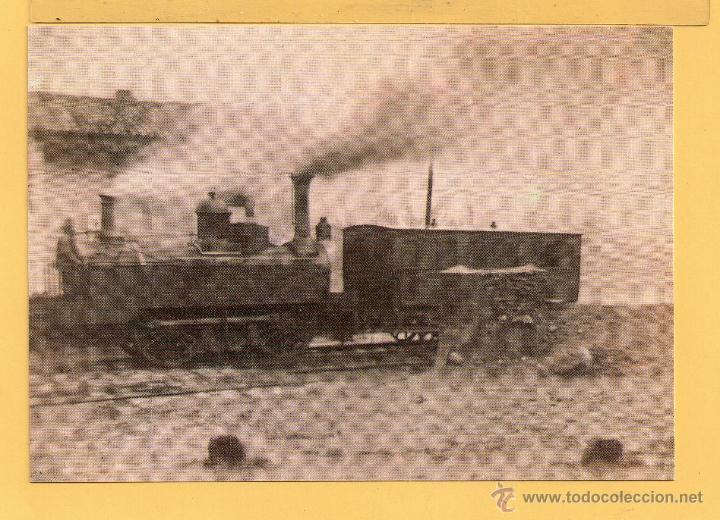 LOCOMOTORA TREN CARBON LINEA DE GIJON A SANA DE LANGREO ASTURIAS SIN CIRCULAR EDITADO AMIGOS MADRID (Postales - Postales Temáticas - Trenes y Tranvías)