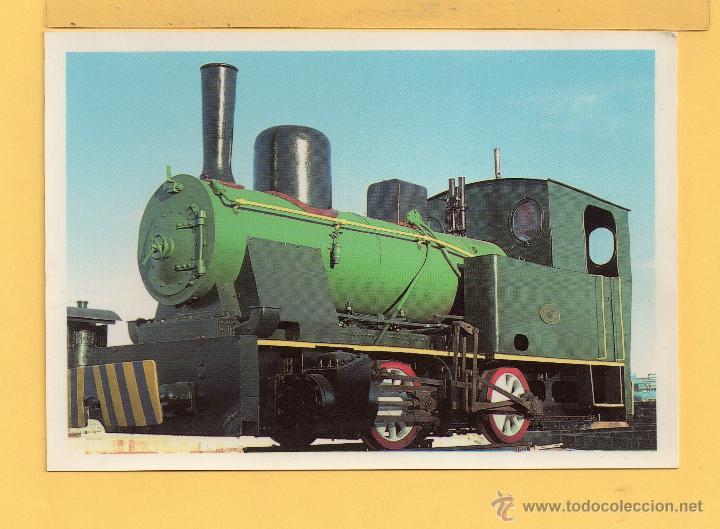 LOCOMOTORA TREN CARBON EN SANTA CRUZ DE TENERIFE EDITADO AMIGOS DE MADRID SIN CIRCULAR (Postales - Postales Temáticas - Trenes y Tranvías)
