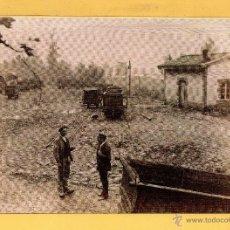 Postales: POSTAL DE TRENES SAMA ASTURIAS VAGONETA EL AÑO 1887 EDICION ASOCIACION DE AMIGOS FERROCARRIL MADRID. Lote 50663673