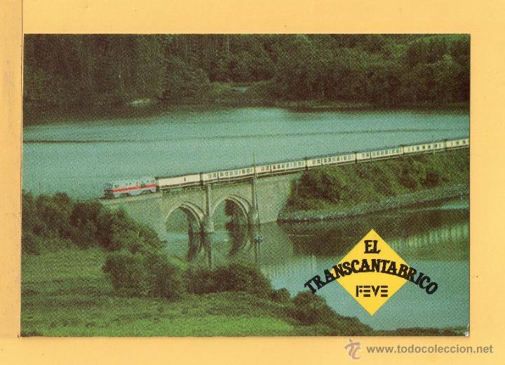 POSTAL DE TRENES DE EL TRANSCANTABRICO EDICION LBERICA DE FUENLABRADA SIN CIRCULAR (Postales - Postales Temáticas - Trenes y Tranvías)