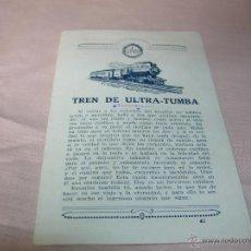 Postales: MUY CURIOSO PROSPECTO TREN DE ULTRA-TUMBA. Lote 51143478