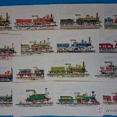 Postales: COLECCIÓN 16 POSTALES ITALIANAS, LOCOMOTORAS DE TREN A VAPOR- VER FOTOS . R-237. Lote 52405910