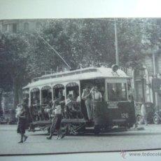 Postales: EUROFER AMICS FERROCARRIL Nº 4038 TRANVIAS BARCELONA COCHE 126 SOLO VERANO PZA CATALUÑA (AÑO 1949). Lote 52650927