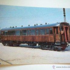 Postales: EUROFER AMICS FERROCARRIL Nº 392 COCHE 1ª CLASE AA (947) EX NORTE VILANOVA GELTRU BARCELONA AÑO 1972. Lote 52967461