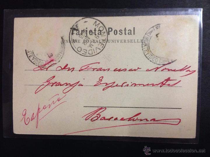 Postales: FERROCARRIL - MONTEVIDEO - ESTACION - VER REVERSO SIN DIVIDIR - (39141) - Foto 2 - 53107760