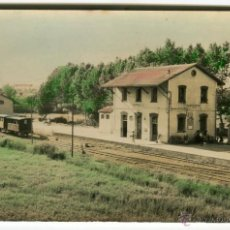 Postales: AMPOSTA ESTACION CARRILET (ALDEA-HOSTAL) ANTIGUA POSTAL COLOREADA ORIGINAL EXCLUSIVAS JUAN AGUILO. Lote 53154932