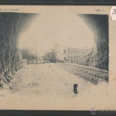 Postales: ALHAMA DE ARAGON - NUM· 4 - EL TUNEL - FERROCARRIL - FOT· LAURENT - REVERSO SIN DIVIDIR - (39387). Lote 53303269
