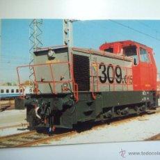 Cartes Postales: EUROFER AMICS FERROCARRIL Nº 548 TRACTOR DIESEL 309-015-6 DEPOSITO FUENCARRAL MADRID (AÑO 1996). Lote 53495235