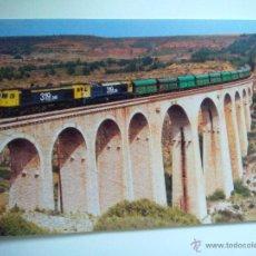 Postales: EUROFER AMICS FERROCARRIL Nº 3 MERCANCIAS 2000 ESTACION MORA DE RUBIELOS TERUEL (AÑO 1999). Lote 53507899