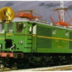 Postales: POSTAL TREN LOCOMOTORA RENFE 1005 . Lote 54541327