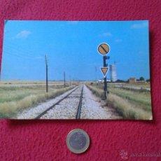 Postales: TARJETA POSTAL POST CARD HISTORIA FERROCARRIL ESPAÑOL TREN TRAIN DISCO AVANZADO CON TRIANGULO VER FO. Lote 54669812