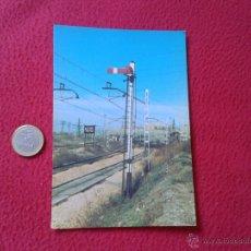 Postales: TARJETA POSTAL POST CARD HISTORIA FERROCARRIL ESPAÑOL TREN TRAIN SEMAFORO TIPO MZA MADRID ATOCHA VER. Lote 54671277