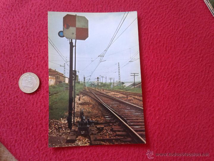 TARJETA POSTAL POST CARD HISTORIA FERROCARRIL ESPAÑOL SEÑAL CUADRADA TIPO NORTE OVIEDO VER FOTO Y DE (Postales - Postales Temáticas - Trenes y Tranvías)
