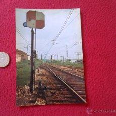 Postales: TARJETA POSTAL POST CARD HISTORIA FERROCARRIL ESPAÑOL SEÑAL CUADRADA TIPO NORTE OVIEDO VER FOTO Y DE. Lote 54671437