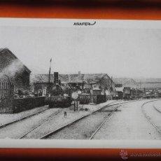 Postales: POSTAL - LOCOMOTORA NORTE ESTACION SAN ANDREU PALOMAR BARCELONA 1900-1910 - ASAFER. Lote 54811546