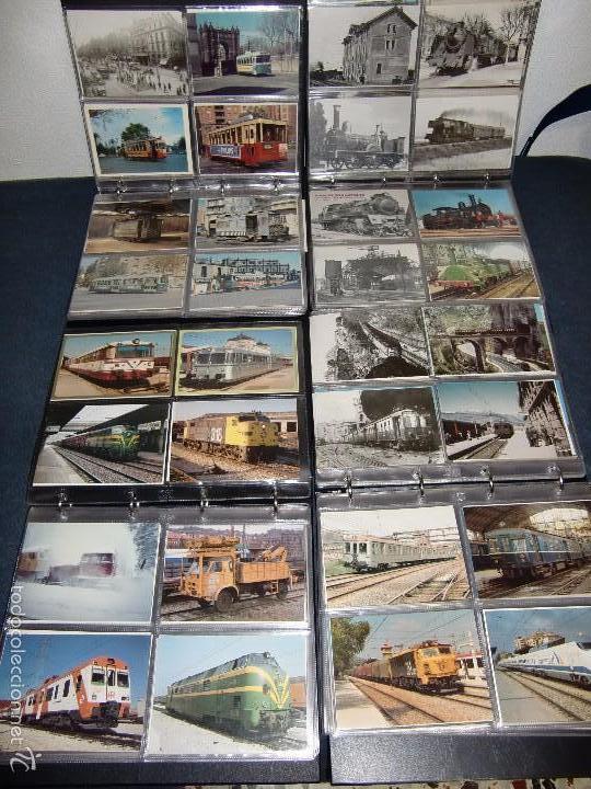 COLECCION DE MAS DE 700 POSTALES DE RENFE , TRANVIAS DE BARCELONA , FEVE , FGC , EFE. EUROFER (Postales - Postales Temáticas - Trenes y Tranvías)