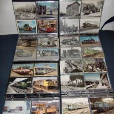Postales: COLECCION DE MAS DE 700 POSTALES DE RENFE , TRANVIAS DE BARCELONA , FEVE , FGC , EFE. EUROFER. Lote 55107967