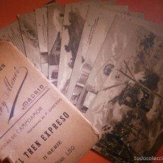 Postales - Colección completa - Postales - El Tren Expreso - II Serie - Hauser y Menet - Poesias Campoamor - 57315395