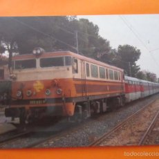 Postales: POSTAL - TREN TALGO PORTBOU CARTAGENA LOCOMOTORA 269 SALOU 5/6/1990 - EUROFER - NO CIRCULADA. Lote 58115790